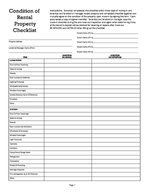 Walkthrough Checklist Al Form Fill Out And Sign