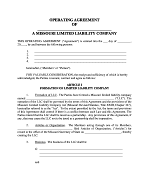 Adobe pdf , ms word (.docx) , opendocument. Llc Operating Agreement Template Fill Out And Sign Printable Pdf Template Signnow