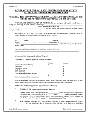 An acquisition agreement is the contract that governs the purchase of one company by another or the merger of two companies. Land Agreement Fill Out And Sign Printable Pdf Template Signnow
