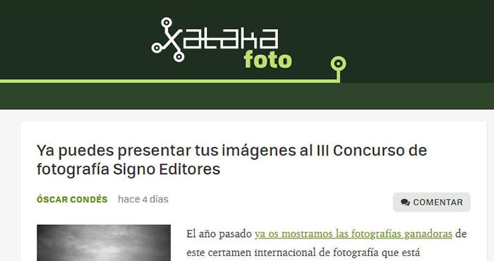 El concurso de fotografía signo editores en xataka