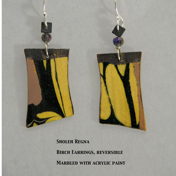 Sholeh Regna Reversible Marbled Birch Earrings
