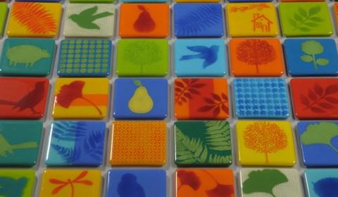 Lora Kudisch Fused Glass Coasters