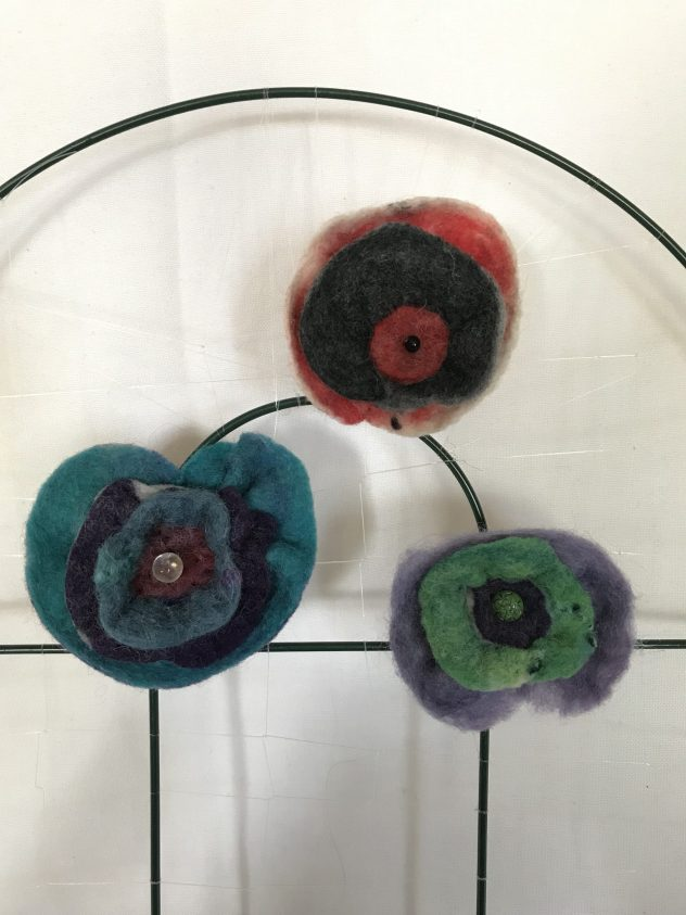 Susan Tornheim flower pins