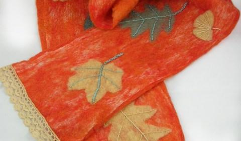 Susan Tornheim Leaf Scarf