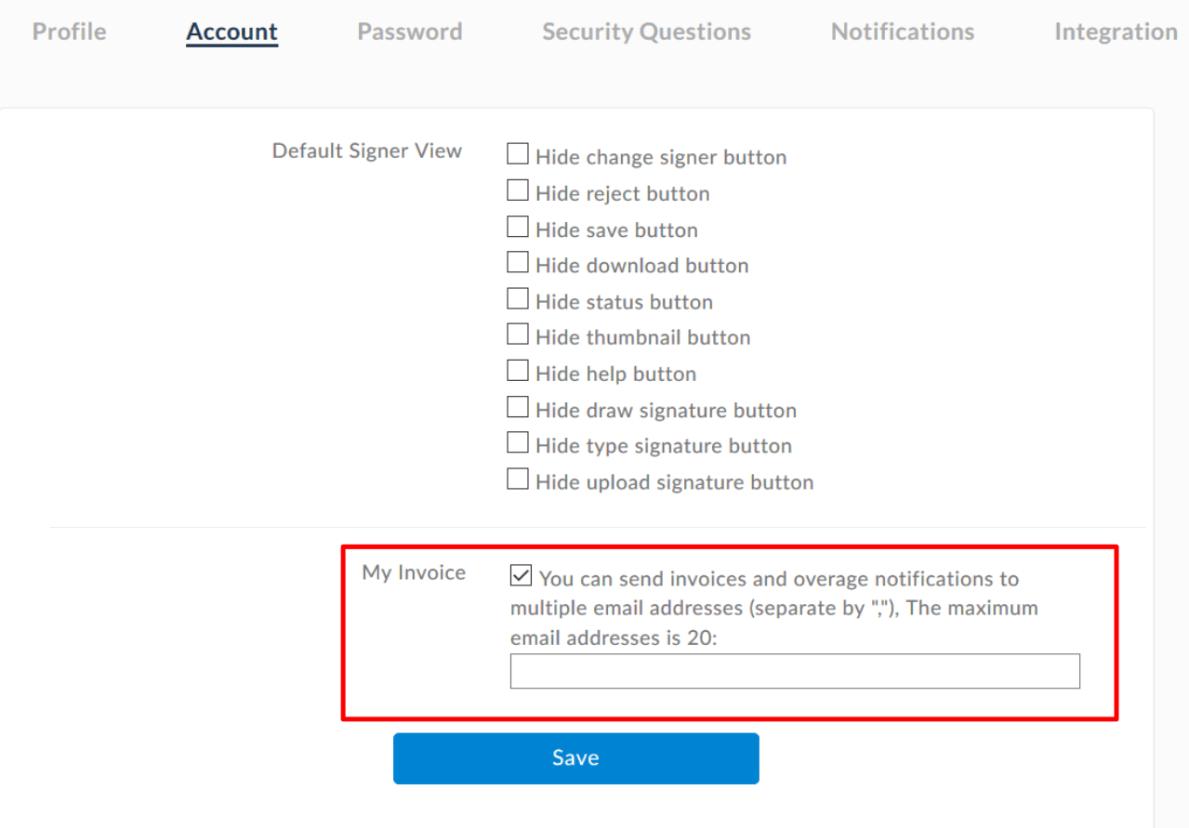 Add email addresses