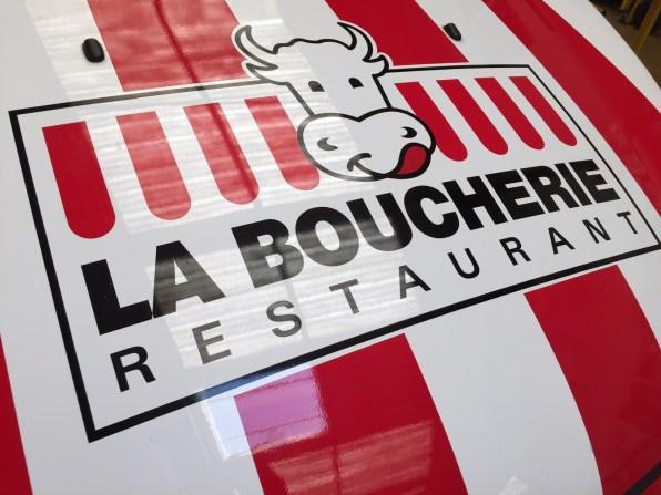 covering pour les restaurants la boucherie Marseille - Vitrolles par Signpub