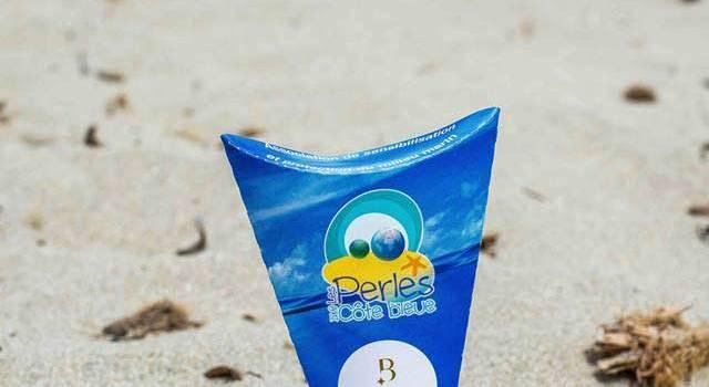 cendrier de plage carton