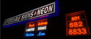 Where can learn to make neon signs