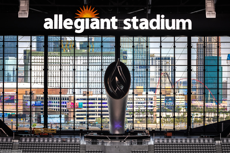 yesco completes fabrication installation of nearly 4 000 signs at allegiant stadium sign builder illustrated the how to sign industry magazine