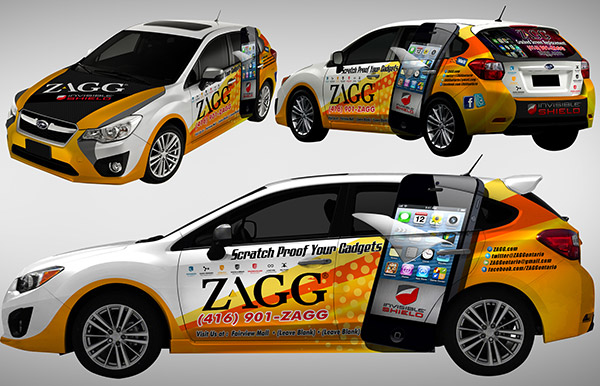 design for a vinyl car wrap