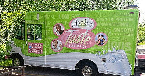 Vinyl vehicle wrap for an ice cream truck