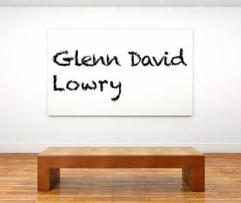 Künstlerbiographie Glenn David Lowry icon