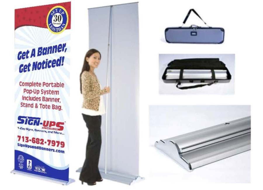 Pop-Up Banner for Trade Show with Carry Case