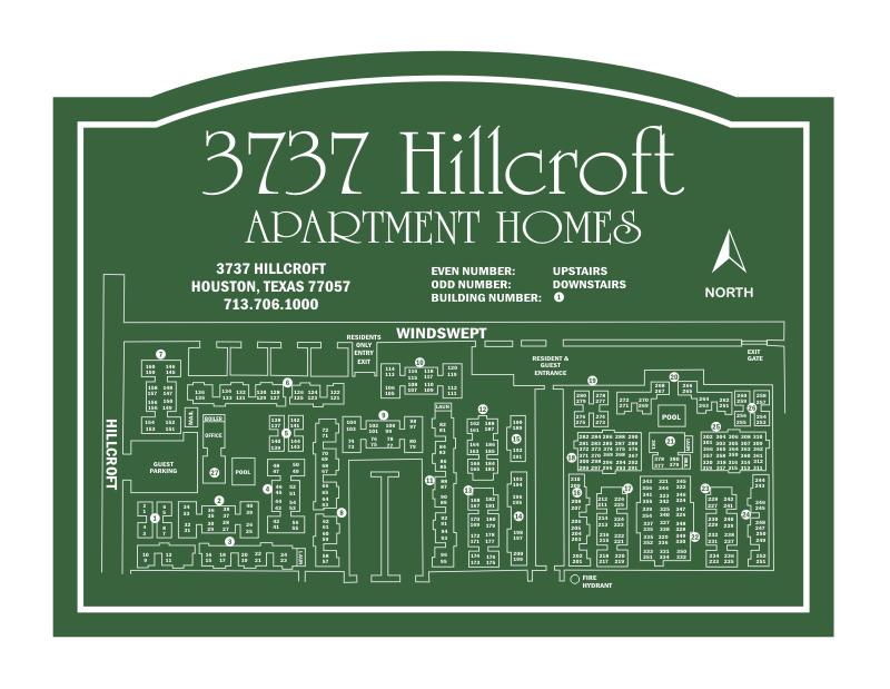Apartment Site Map sign