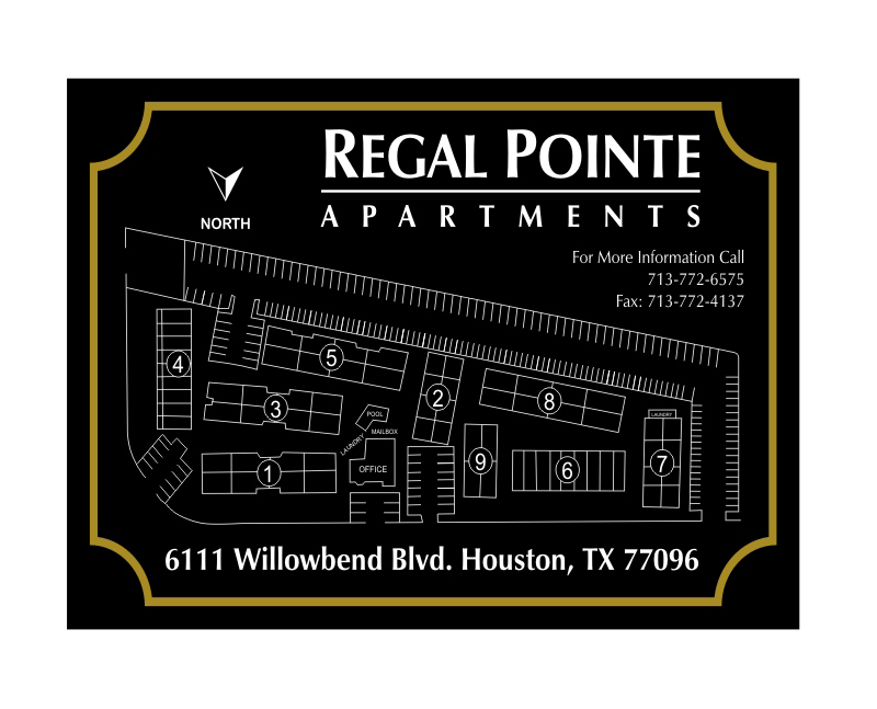 regal pointe apartments sign