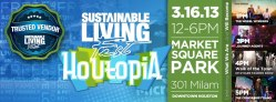 We are a trusted vendor at the Sustainable Living Fest 2013!