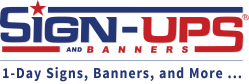 Sign-Ups and Banners releases new corporate branding for signs and banners company