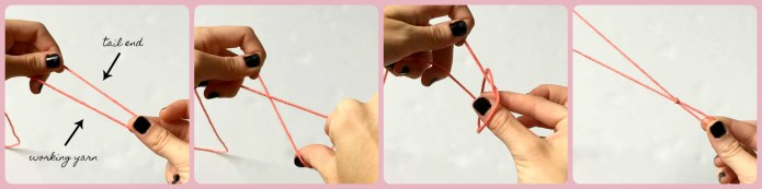 Tie A Slip Knot The Easy Way Crochet Tutorial With Pictures For Beginners Sigoni Macaroni