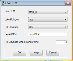 configuration de Level DEM