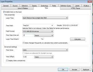 activation de la gestion du temps d'une couche dans arcmap