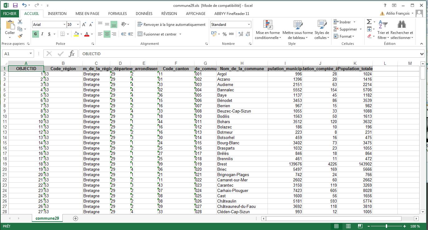 les fichiers excel avec arcgis et arcgis pro