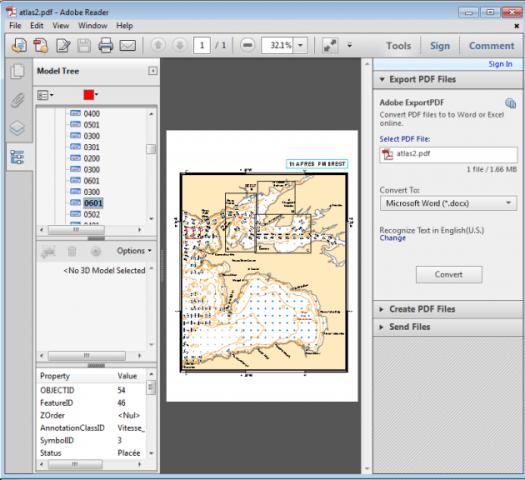 visualisation des attributs des ent=ités dans un pdf géographique