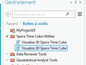 boîte à outils visualisation du cube spatio-temporel