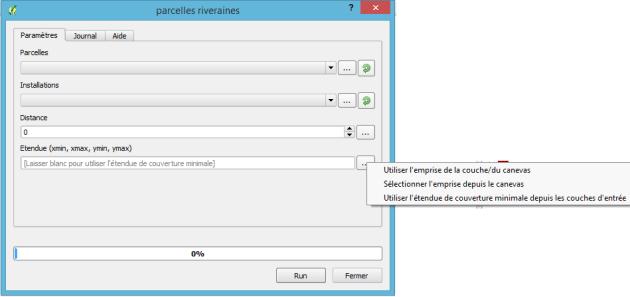 résultat d'une entrée de type Etendue dans le modeleur graphique