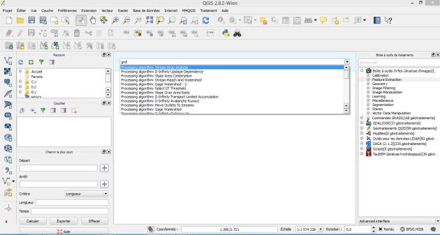 ligne de commande de la boîte à outils de qgis