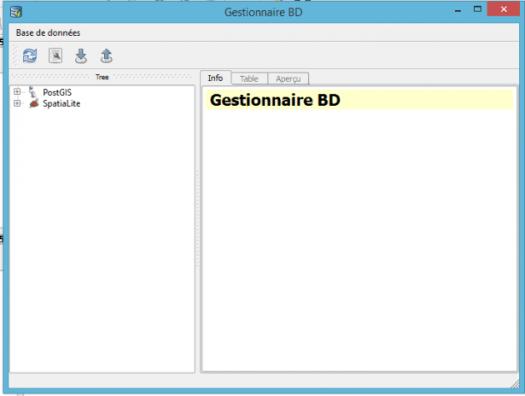 gestionnaire de base de données de qgis 2.8