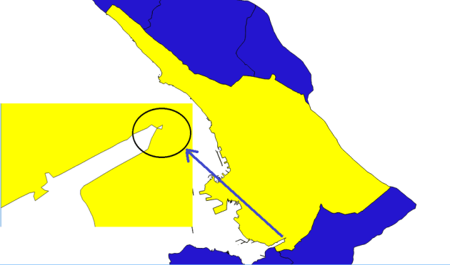 nomalie de la commune de Trieste