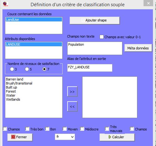 Affichage de la classification présente dans la table attributaire