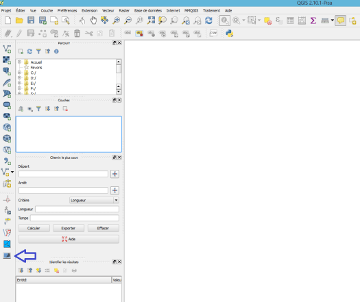bouton photo2shape dans qgis