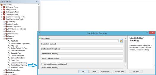 outil activer le suivi de l'éditeur de la toolbox