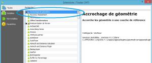 gestionnaire des extensions de qgis 2.12