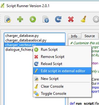 editer le script avec l'éditeur externe
