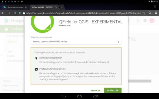 acceptation de la localisation sur android