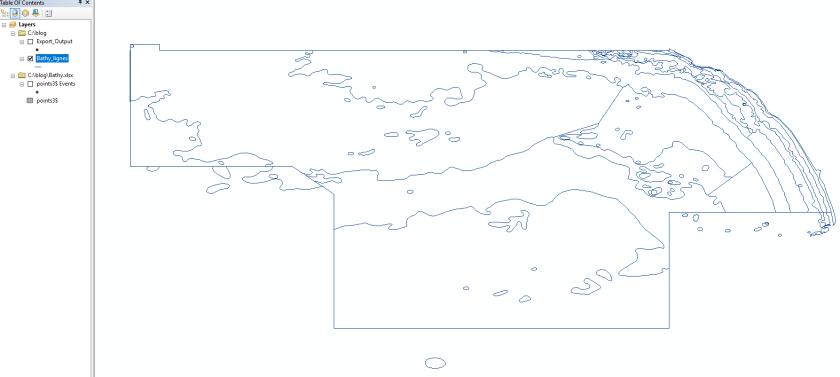 résultat final de l'outil point vers lignes