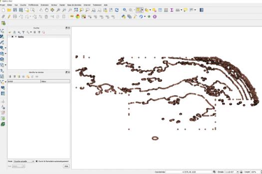 couche Excel chargée dans qgis