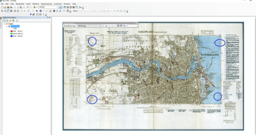 georeferencement dans arcmap