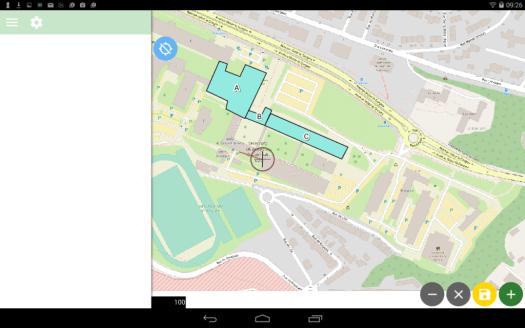 création de gféométries avec qfield sur le dispositif mobile android