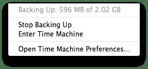 Sihirli elma time machine yedeklemek 20