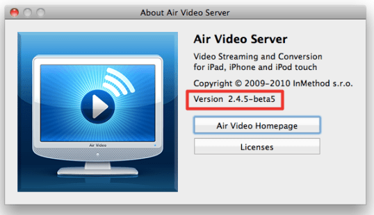 Sihirli elma apple airplay air video server beta 1