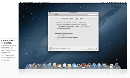 Sihirli elma os x 10 8 mountain lion gatekeeper