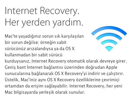 Sihirli elma os x internet recovery 4