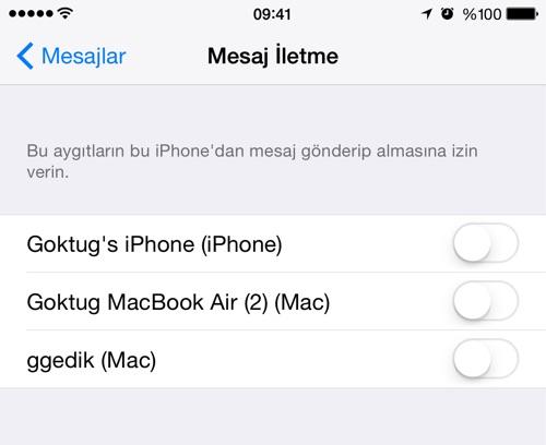 Sihirli elma sms gonder ios mac iphone ipad 7