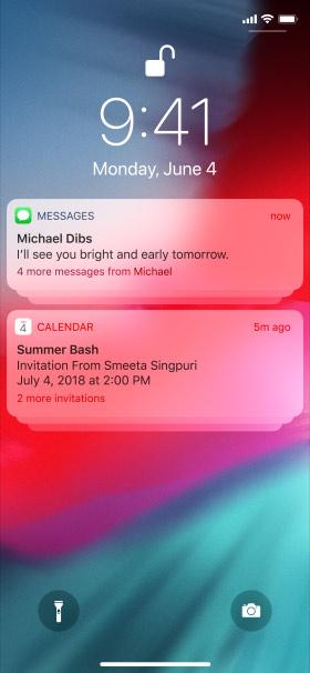 iOS 12 Gruplandırılmış Bildirimler