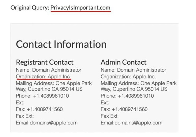 Apple Alan Adı Domain