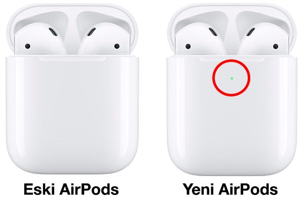 Eski AirPods ve Yeni AirPods