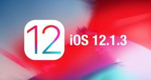 iOS 12.1.3 Güncellemesi